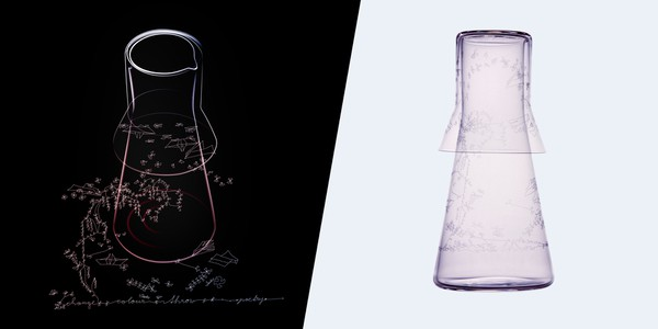 Carafe and water glass Ona sketch
